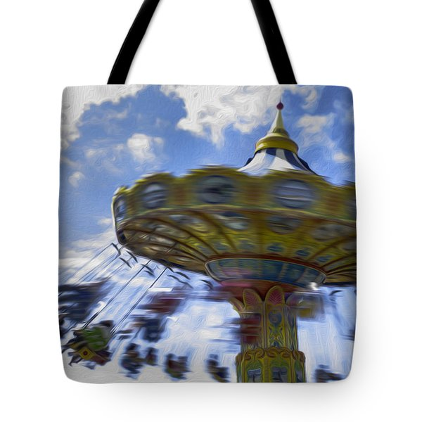 Merry Go Round Swings Tote Bag