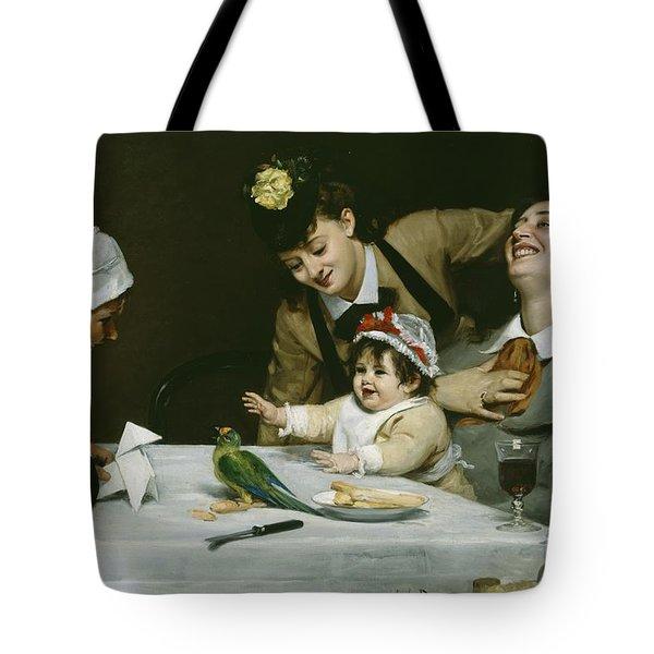 Merrymakers Tote Bag by Charles Emile Auguste Carolus-Duran