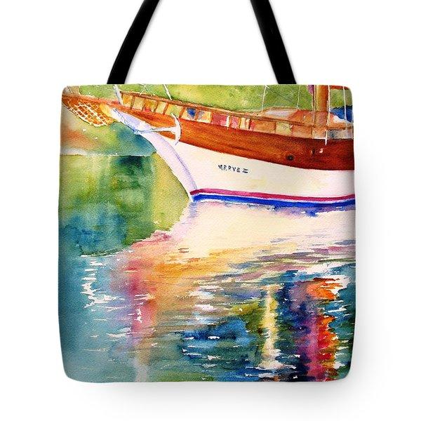 Merve II Gulet Yacht Reflections Tote Bag