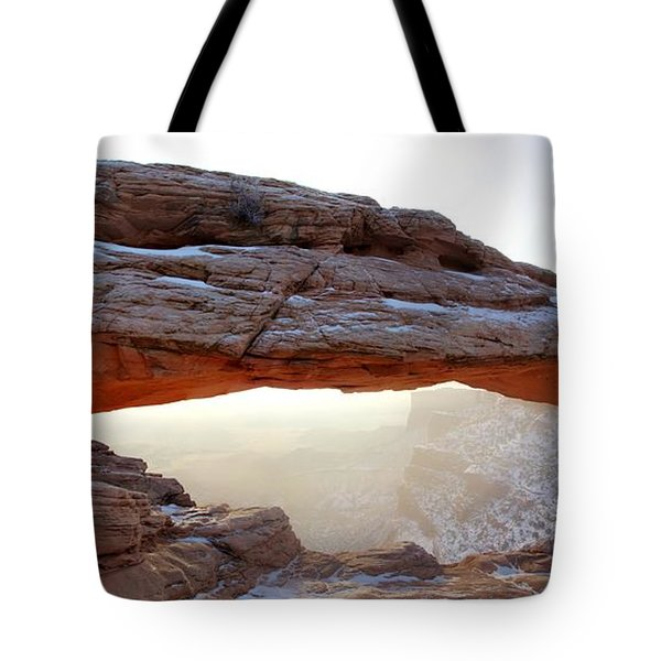 Tote Bag featuring the photograph Mesa Arch Looking North by David Andersen