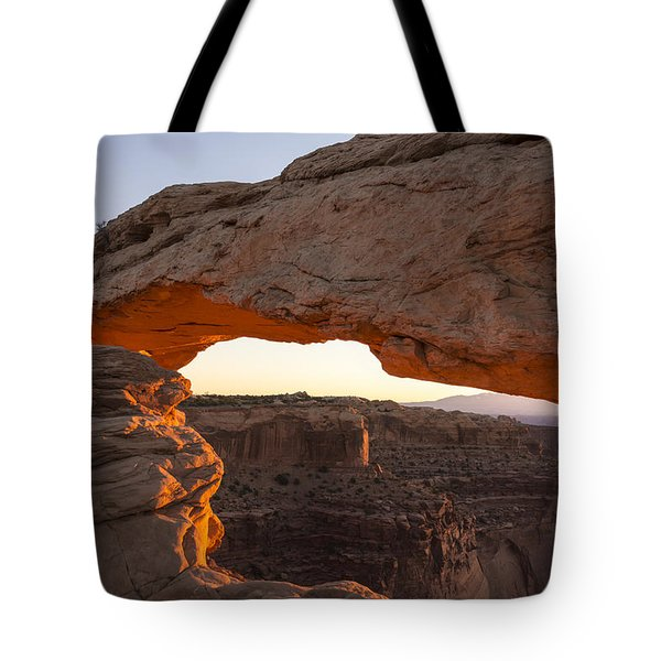 Mesa Arch Sunrise 2 - Canyonlands National Park - Moab Utah Tote Bag