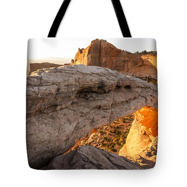 Mesa Arch Sunrise 6 - Canyonlands National Park - Moab Utah Tote Bag by Brian Harig
