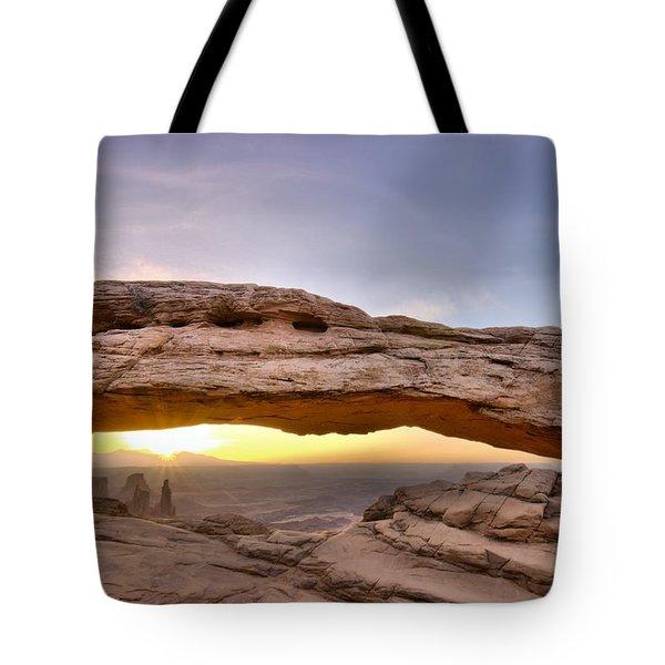 Mesa Arch Sunrise Canyonlands National Park Utah Moab Tote Bag