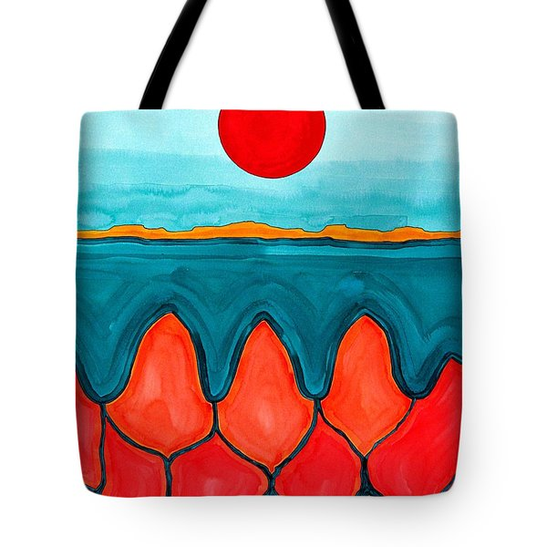 Mesa Canyon Rio Original Painting Tote Bag