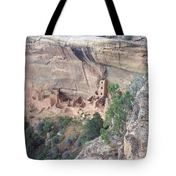 Tote Bag featuring the photograph Mesa Verde Colorado Cliff Dwellings 1 by Richard W Linford
