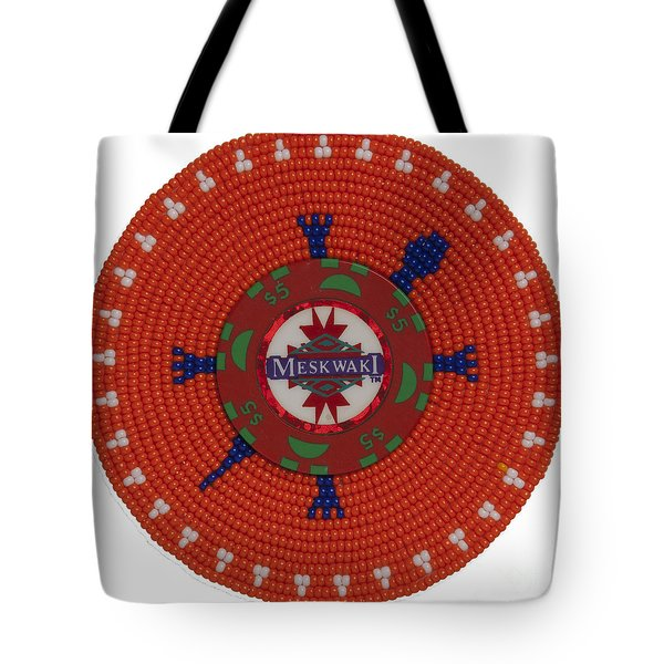 Meskwaki Orange Tote Bag