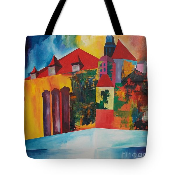 Tote Bag featuring the painting Mesmerized by PainterArtist FIN
