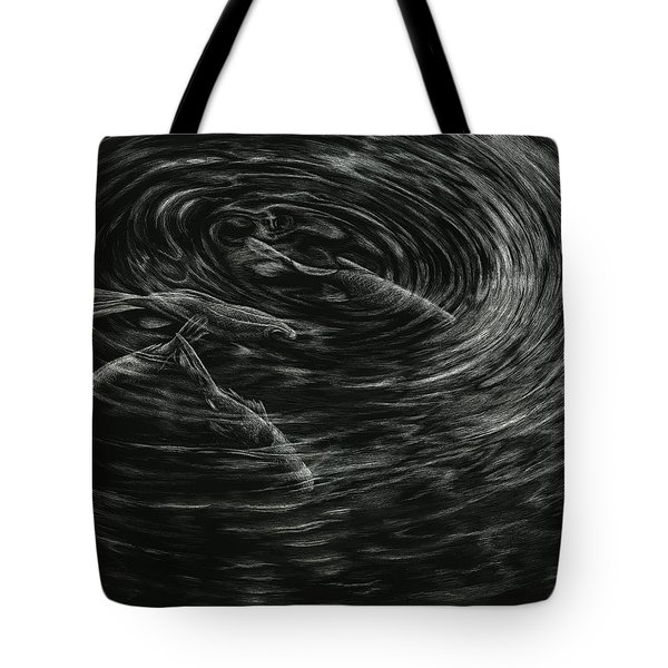 Tote Bag featuring the drawing Mesmerized by Sandra LaFaut
