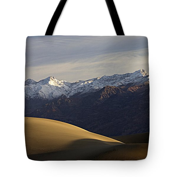 Tote Bag featuring the photograph Mesquite Dunes And Grapevine Range by Joe Schofield