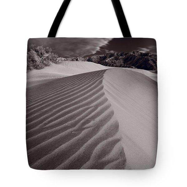 Mesquite Dunes Death Valley B W Tote Bag
