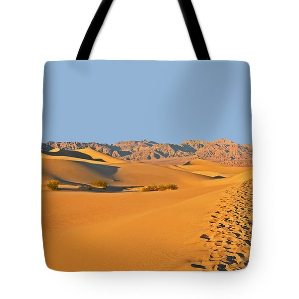 Tote Bag featuring the photograph Mesquite Flat Sand Dunes - Death Valley by Dana Sohr