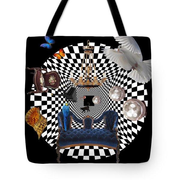 Mess In Wonderland  Tote Bag by Mark Ashkenazi
