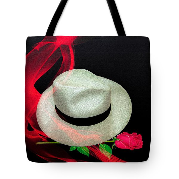Message In A Hat Tote Bag