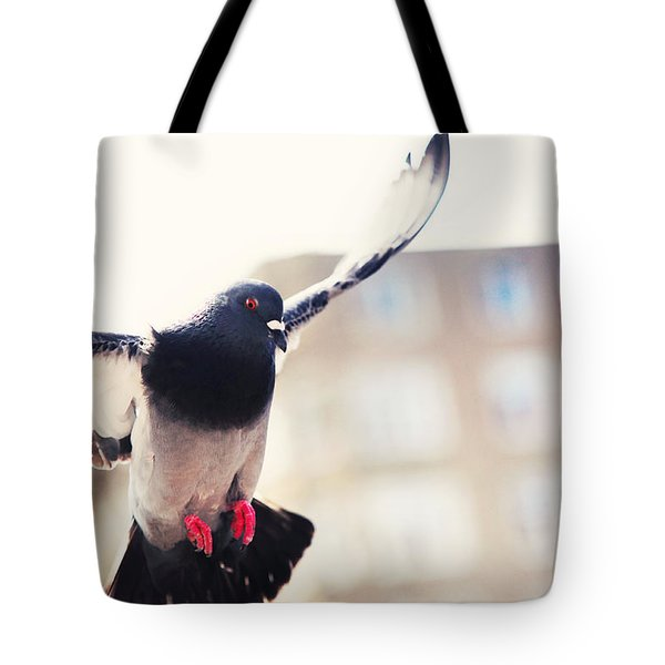 Messenger Of Love. Pink Spring In Amsterdam Tote Bag by Jenny Rainbow