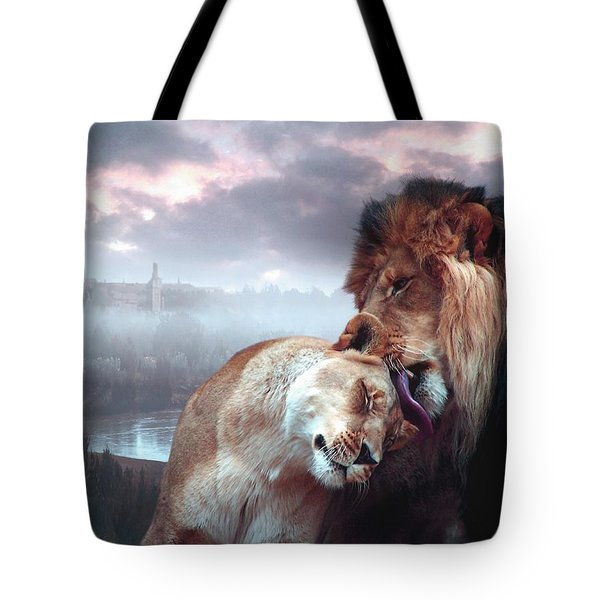 Yeshua Loves Israel Tote Bag