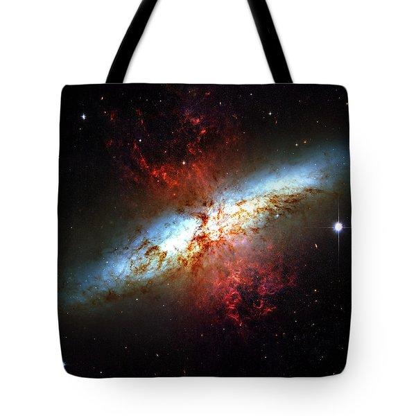 Messier 82 Tote Bag by Ricky Barnard