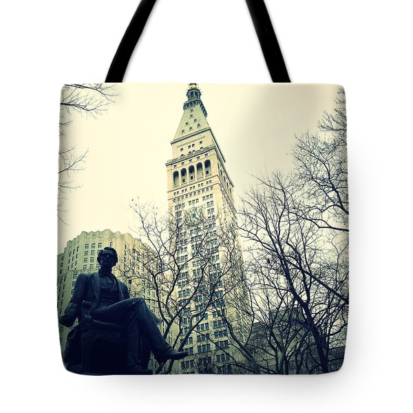 Met Life And Madison Square Park Tote Bag