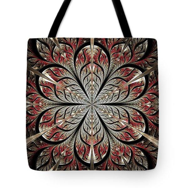 Metal Flower Tote Bag by Anastasiya Malakhova