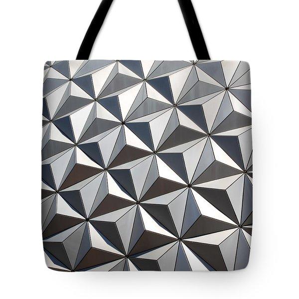 Metal Geode Tote Bag by Chris Thomas
