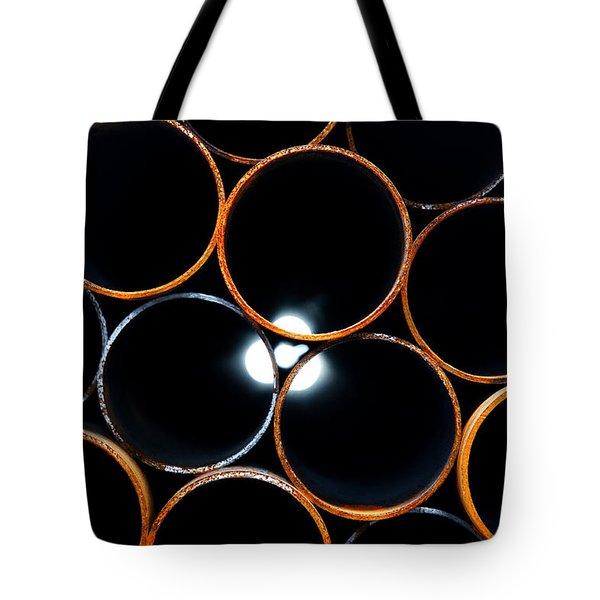 Metal Pipes Tote Bag by Fabrizio Troiani