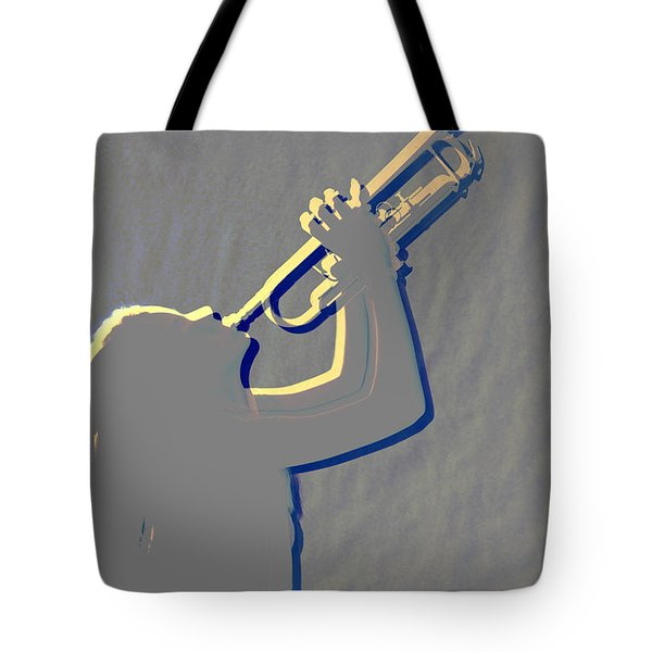 Metal Print Of Trumpet Music Instrument And Girl 3016.04 Tote Bag by M K  Miller