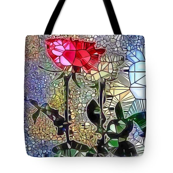 Metalic Rose Tote Bag