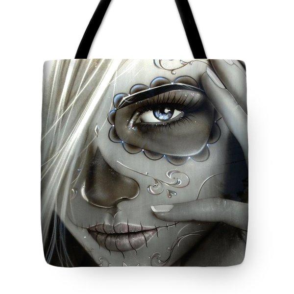 Sugar Skull - ' Metallic Decay ' Tote Bag