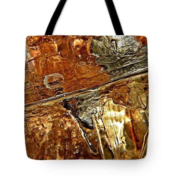 Metallic Ice Tote Bag by Chris Berry