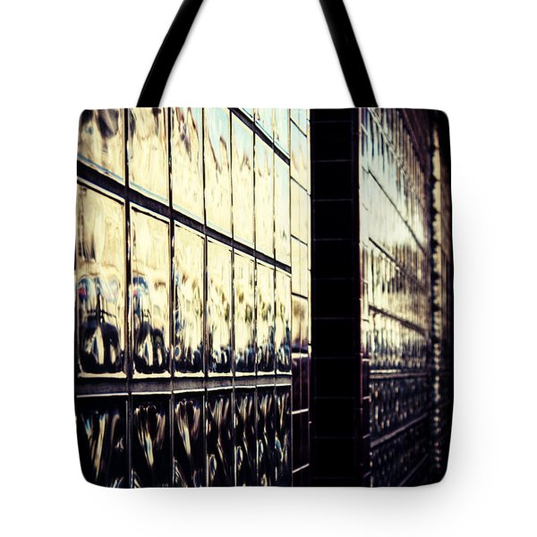 Tote Bag featuring the photograph Metallic Reflections by Melanie Lankford Photography