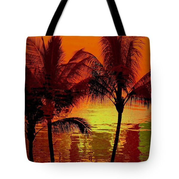 Metallic Sunset Tote Bag by Athala Carole Bruckner
