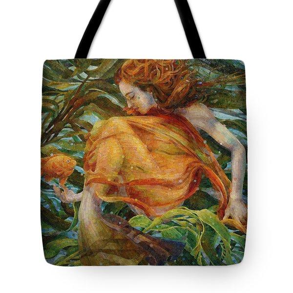 Tote Bag featuring the painting Metamorphosis by Mia Tavonatti
