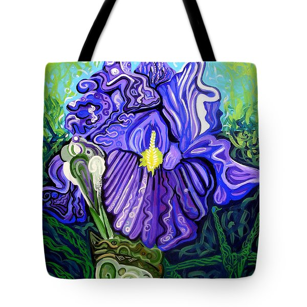Metaphysical Iris Tote Bag by Genevieve Esson