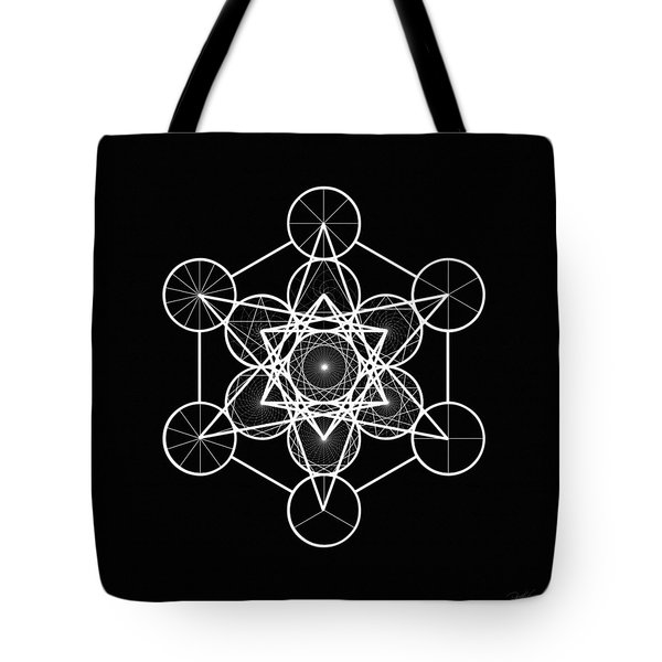 Metatron Wheel Cube Tote Bag