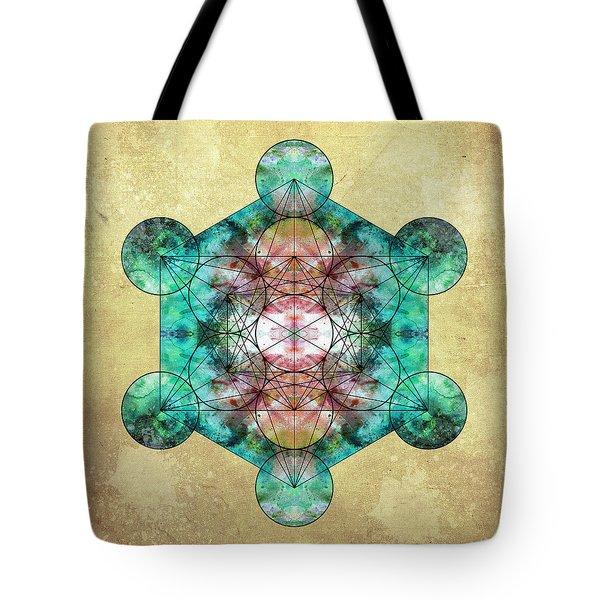 Metatron's Cube Tote Bag by Filippo B