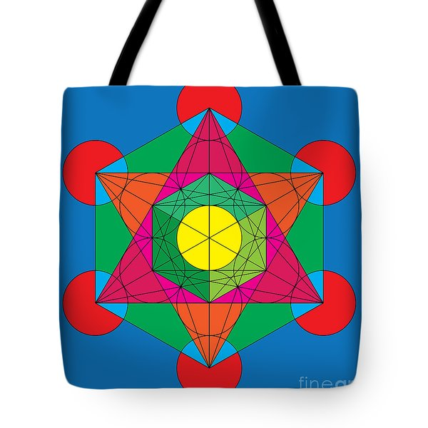 Metatron's Cube In Colors Tote Bag