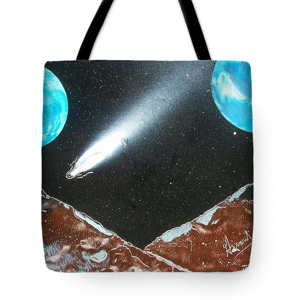 Meteor Moons Tote Bag