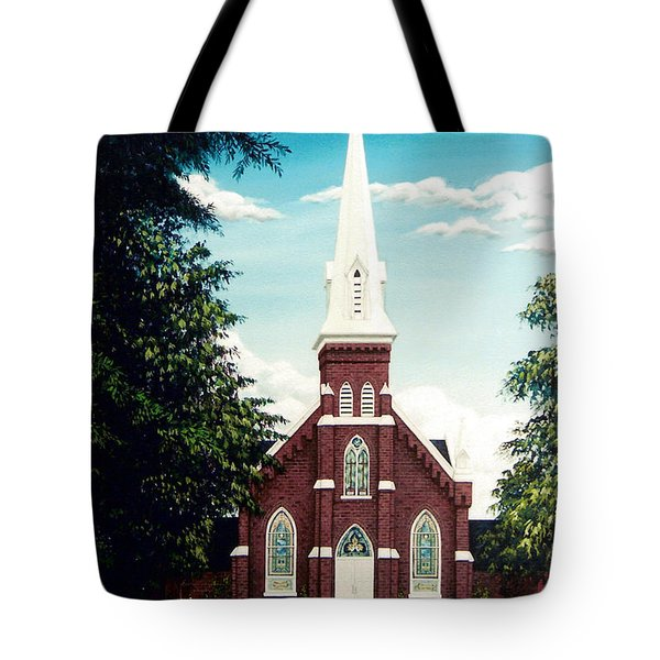 Methodist Church Tote Bag