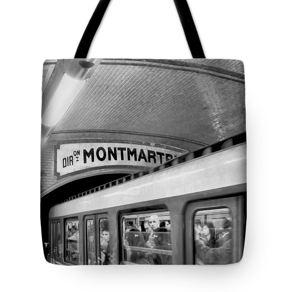 Tote Bag featuring the photograph Metro At Montmartre. Paris by Jennie Breeze