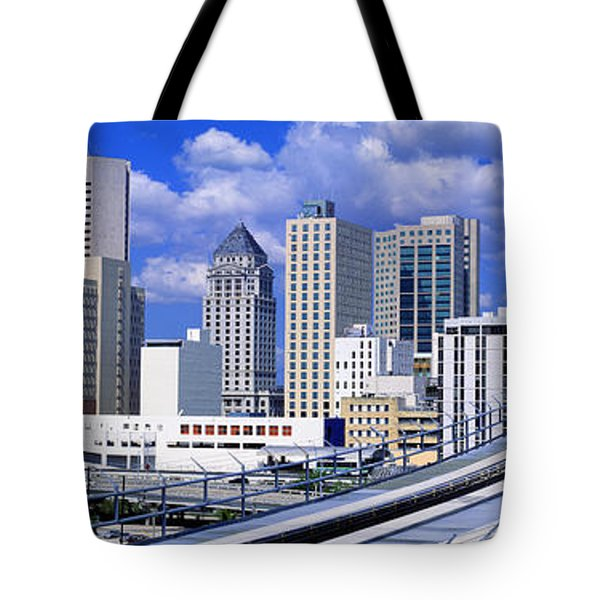 Metro Mover Shuttle Miami, Florida, Usa Tote Bag