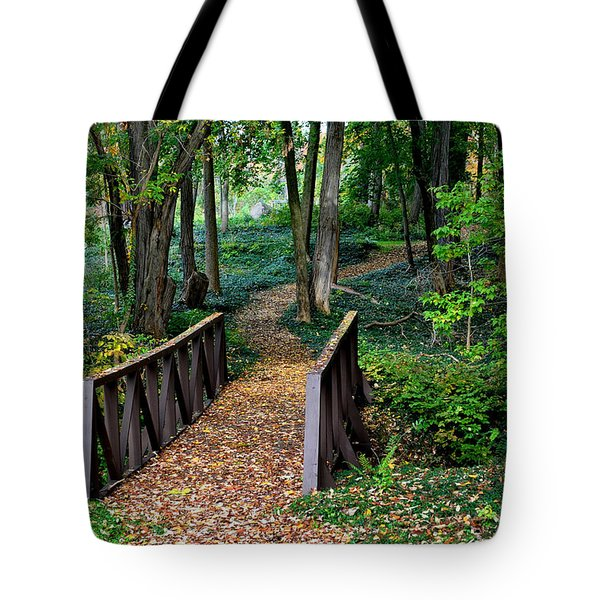 Metroparks Pathway Tote Bag by Frozen in Time Fine Art Photography