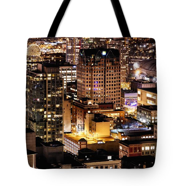Tote Bag featuring the photograph Metropolis Vancouver Mdccxv  by Amyn Nasser