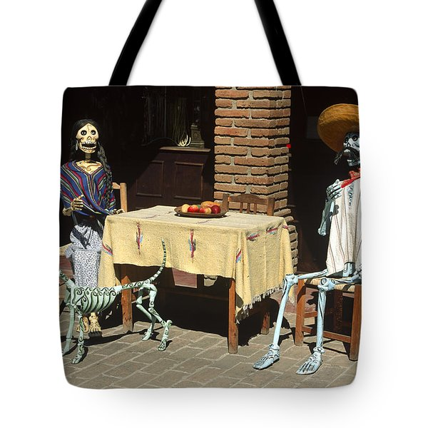 Mexican Antique Family Tote Bag by Roderick Bley
