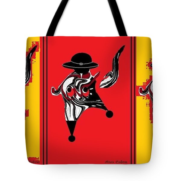 Tote Bag featuring the digital art Mexican Bird by Ann Calvo