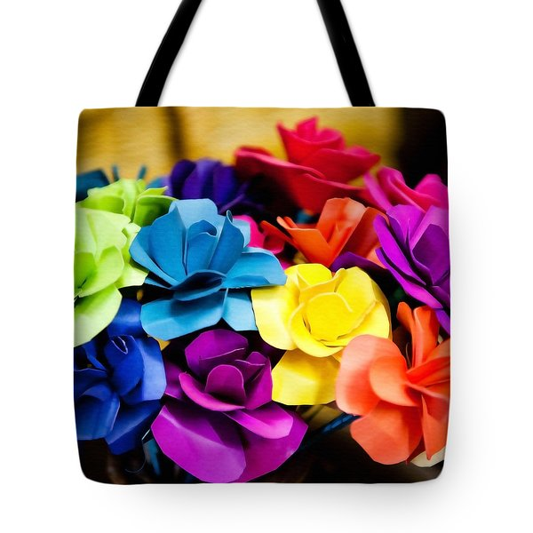 Tote Bag featuring the photograph Mexican Flower Bouquet by Art Block Collections
