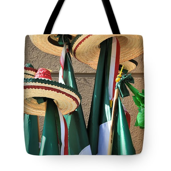 Tote Bag featuring the photograph Mexican Independence Day - Photograph By David Perry Lawrence by David Perry Lawrence