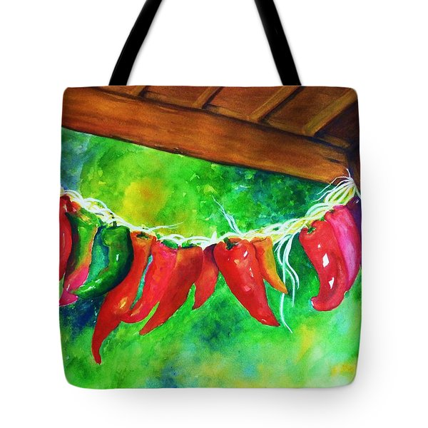 Mexican Jalapeno Peppers Tote Bag by Jane Ricker