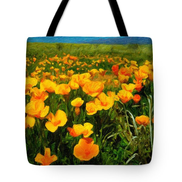 Mexican Poppies Tote Bag