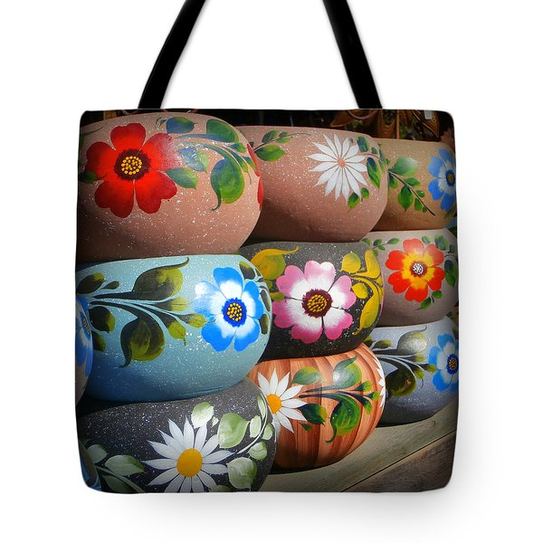 Mexican Pottery In Old Town Tote Bag