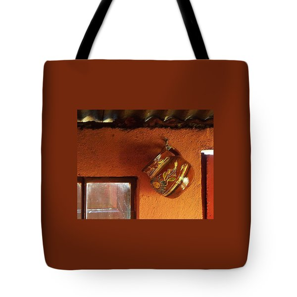 Tote Bag featuring the photograph Mexican Pottery by Joy Nichols