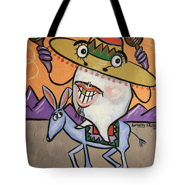 Tote Bag featuring the painting Mexican Tooth by Anthony Falbo